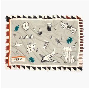 💛HP💛 Madewell x FEED gray wool scarf wrap shawl